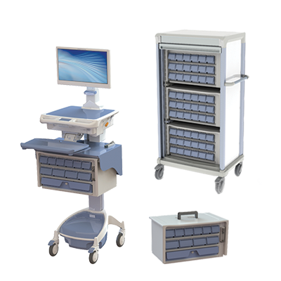 AccessRx Exchange Medication Workstation on wheels