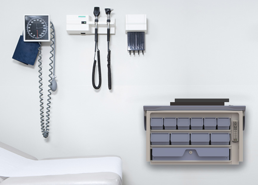 AccessRx Exchange wall mounted medication cassette