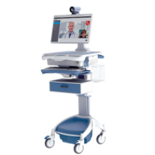 AccessPoint Telehealth Workstation on wheels