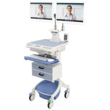 AccessPoint™ Dual Monitor Workstation on Wheels